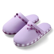 Aerusi Woman Checker Slide Slipper Purple Size 11 - 12