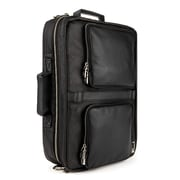 "Lencca Quadra 15.6"" Laptop Messenger Bag Backpack Black"