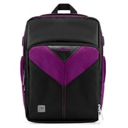 Vangoddy Sparta SLR DSLR Camera Backpack Black Purple