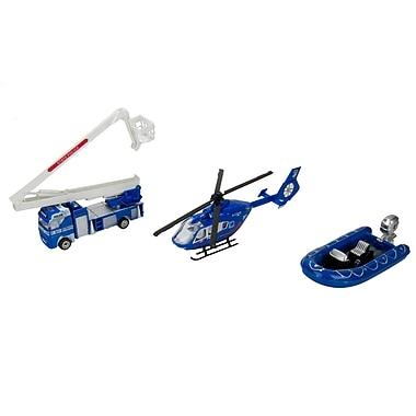 Blue Block Factory Police Rescue Squad Stellar Diecast Play Set Blue