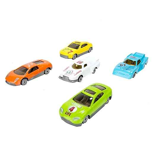 Blue Block Factory Racer Sports Car Die-Cast Metal Play Set