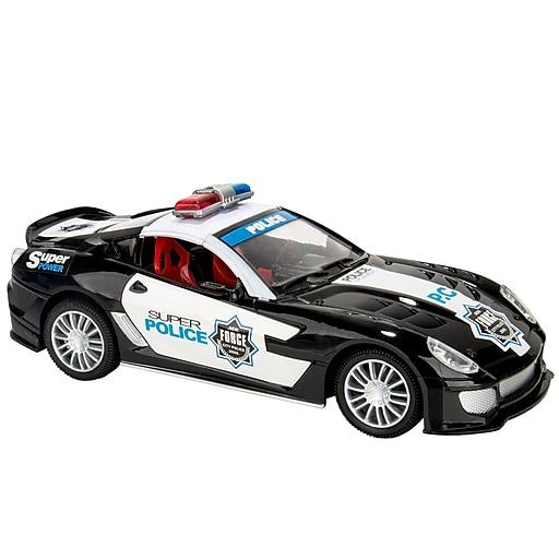 Blue Block Factory Remote Control Police Cruiser Car Black