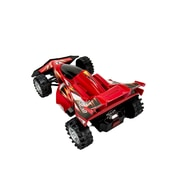 Blue Block Factory Friction Power Formula One Race Car Red