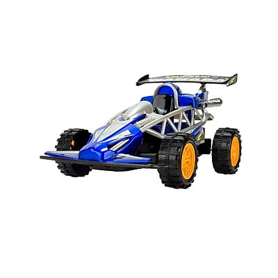 Blue Block Factory Friction Power Dragster Race Car Blue