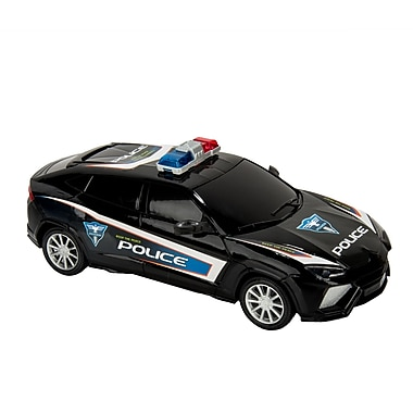 Blue Block Factory Friction Power Police Cruiser Car Black