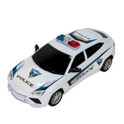 Blue Block Factory Friction Power Police Cruiser Car White