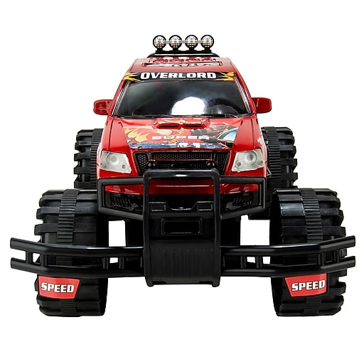 Blue Block Factory Ultimate Rugged Friction Power Monster Truck Red