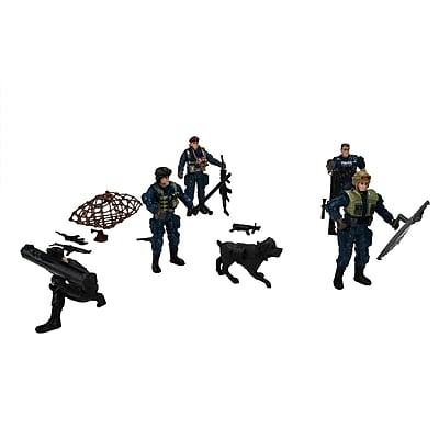 Blue Block Factory Combat Tactical Special Force Police Army Battle Play Set