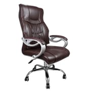 SumacLife 064 Tall Back Executive Chair Leather Brown