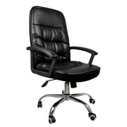 SumacLife 075 Tall High Back Executive Chair Leather Black