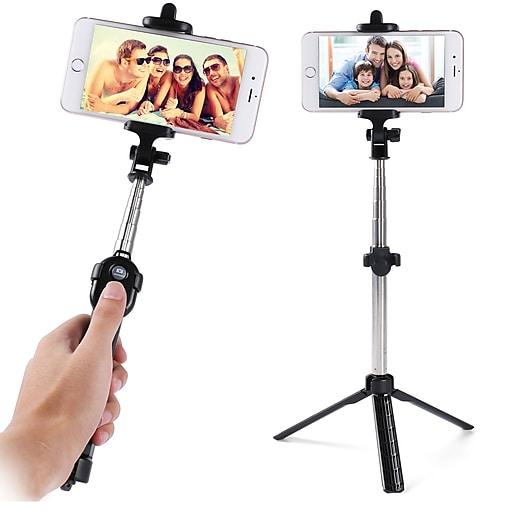 dd29e390561f25 Vangoddy Bluetooth Remote Control Selfie Stick And Mini Tripod Black.  https://www.staples-3p.com/s7/is/