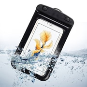 SumacLife Waterproof Pouch Case Black For use with Iphone 7 plus Samsung Galaxy Note 8