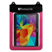 SumacLife Waterproof Pouch Case Pink For use with 10 Inch Tablets