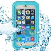SumacLife Waterproof Pouch Case Aqua For use with Iphone 7s, Iphone 7s Plus, SamsunG Galaxy Note and other Similar size phone