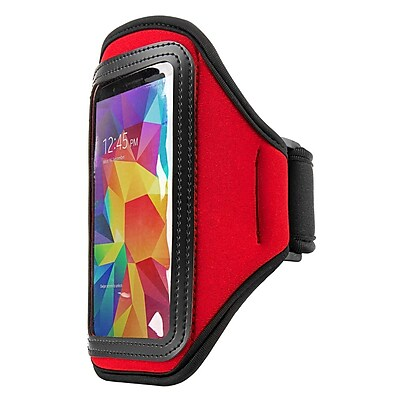 Vangoddy Exercise Armband iPhone and Android Red 2579609