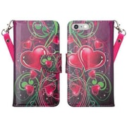 SumacLife Wallet Stand Case iPhone 7 Plus Pink Heart