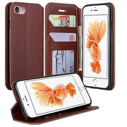 SumacLife Wallet Stand Case iPhone 7 Plus Brown
