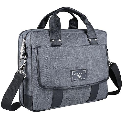 Vandy Chrono Grey 14 Laptop Messenger Bag Msblea132