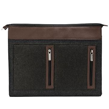 Vangoddy Exo Woolen Felt Laptop Sleeve, 17.3 Inch, Brown