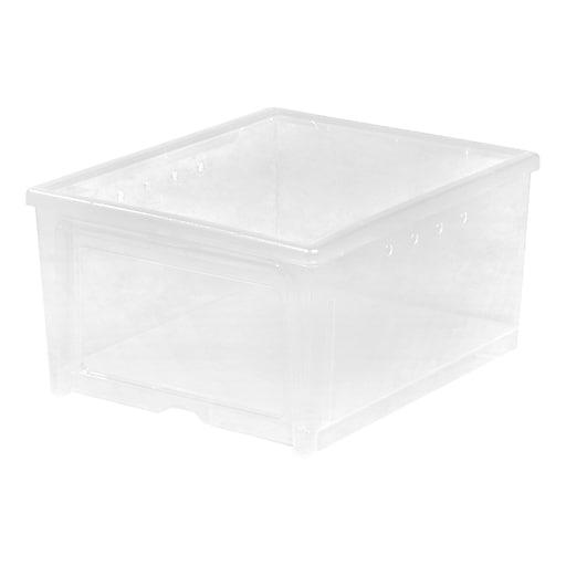 IRIS® Easy Access Men's Shoe Box, 4 Pack (200610)