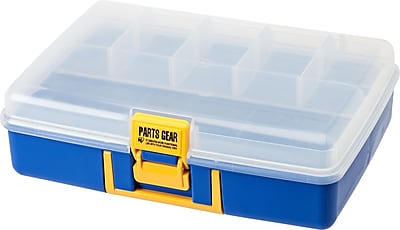 IRIS® Parts Gear Organizer Case, Blue, 3 Pack (218017)