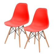 IRIS® Plastic Shell Chair, 2 Pack, Red (586702)