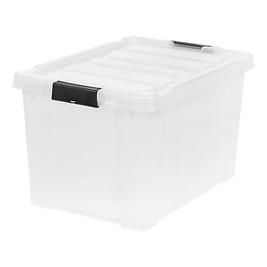 IRIS® 18 Gal Store-It-All Tote, Clear, 4 Pack (250271)