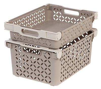IRIS® Medium Decorative Basket Combination, 4 Pack, Tan (586108)