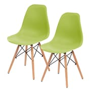 IRIS® Plastic Shell Chair, 2 Pack, Green (586703)