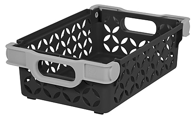 IRIS® Small Decorative Basket, 3 Pack, Black (586101)