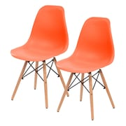 IRIS® USA, Inc. Plastic Shell Chair, 2 Pack, Orange (586708)
