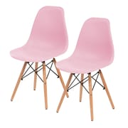 IRIS® Plastic Shell Chair, 2 Pack, Pink (586706)