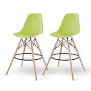 IRIS® Plastic Shell Bar Stool, 2 Pack, Green (586757)