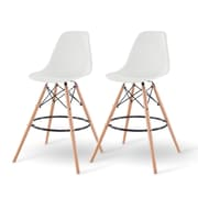 IRIS® Plastic Shell Bar Stool, 2 Pack, White (586760)