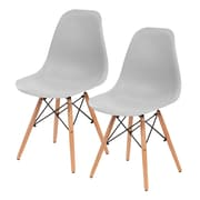 IRIS® Plastic Shell Chair, 2 Pack, Gray (586705)