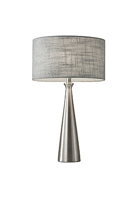 Adesso Linda Table Lamp, Brushed Steel (1517-22)
