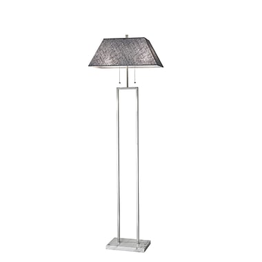 Adesso Chambers Floor Lamp Brushed Steel (4168-22)