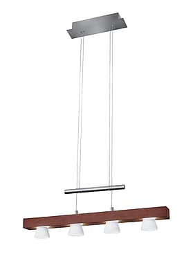 Adesso Burlington 4-Light LED Pendant, Walnut (3097-15)