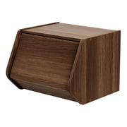 IRIS® Stack Box with Door, Dark Brown (596010)