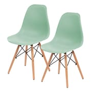 IRIS® USA, Inc. Plastic Shell Chair, 2 Pack, Light Green (586710)