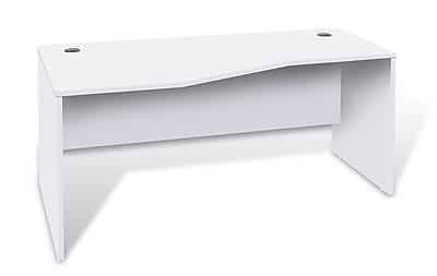 Unique Furniture 100 Collection Crescent Desk Left White (1633224L-WH)
