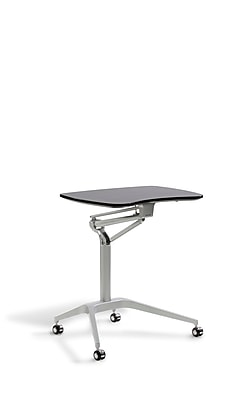 Unique Furniture Workpad Stand Up Height Adjustable Desk with Espresso Top (208-ESP)