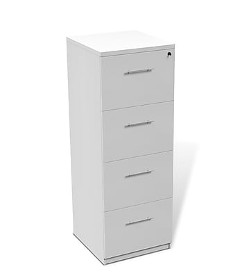 Unique Furniture 100 Collection 4 Drawer Vertical Filing Cabinet White (119204-WH)