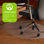 "Cleartex Ultimat Polycarbonate Contoured Chair Mat for Hard Floor & Carpet Tiles 39"" x 49"" (129919SR)"