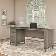 Bush Furniture Somerset 72W Office Desk with Drawers, Ash Gray (WC81672)