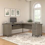 Bush Furniture Somerset 72W L Shaped Desk, Ash Gray (WC81610K)