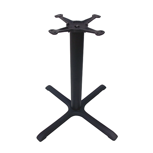 """JI Bases 30""""x30"""" Dining-Height Cast Iron Table Base with 3"""" Column and 13"""" Top Plate (JI3-30TP12)"""