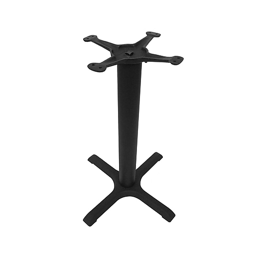 "JIBases 22""x22"" Dining-Height Black Cast Iron Table Base with 3"" Column and 13"" Top Plate (JI3-22TP12)"