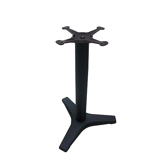 """JI Bases 22"""" 3-pronged Dining Height Table Base with 3"""" Column and 13"""" Top Plate (JIB3-22TP12)"""