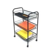 Mind Reader 'Roll'  Rolling Metal Mesh 3 Shelf Cart, Silver